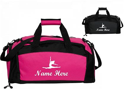 Pink & black customized duffel