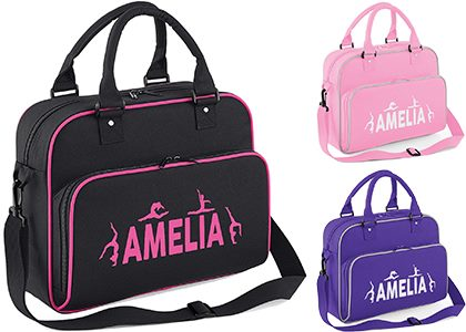 Black, Purple and Pink one Sholder Strap Carryall