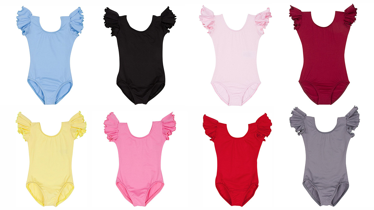8 dance leotards of various colors